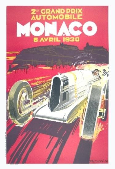 Falcucci Monaco Grand Prix 1930 Lithograph