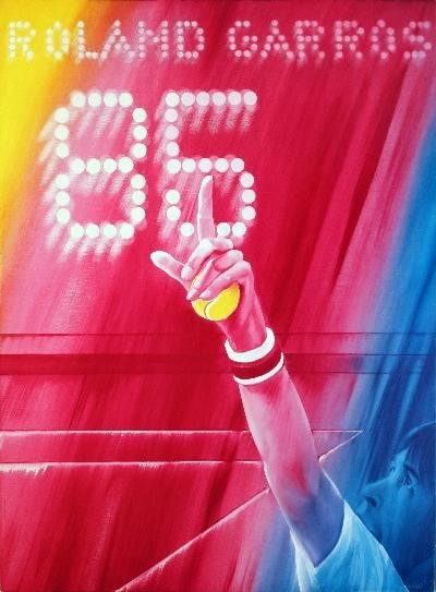 1985 Monory Roland Garros Poster