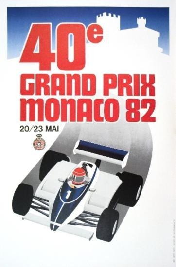 Monaco Grand Prix 1982 Lithograph