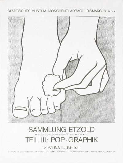 1971 Lichtenstein Foot Medication Poster