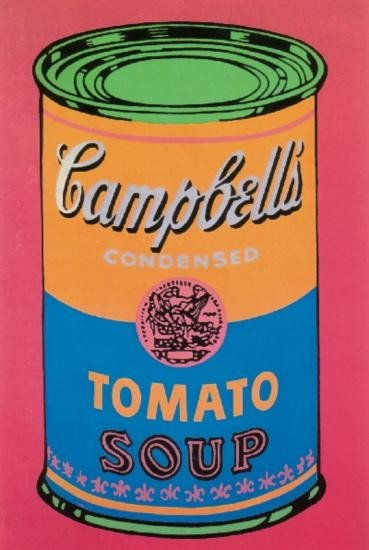 Warhol Soup Can Tomato Colored-Large Poster