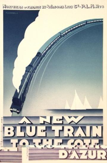 Zenobel Blue Train-Cote DAzur Lithograph