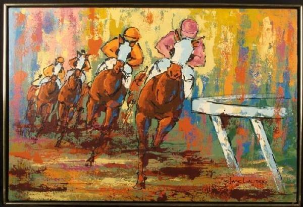 Jack Lauder Original Horse Racing Sport Art Painting