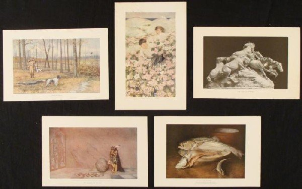 5 Book Prints 1903-07 Early 20th Century Art
