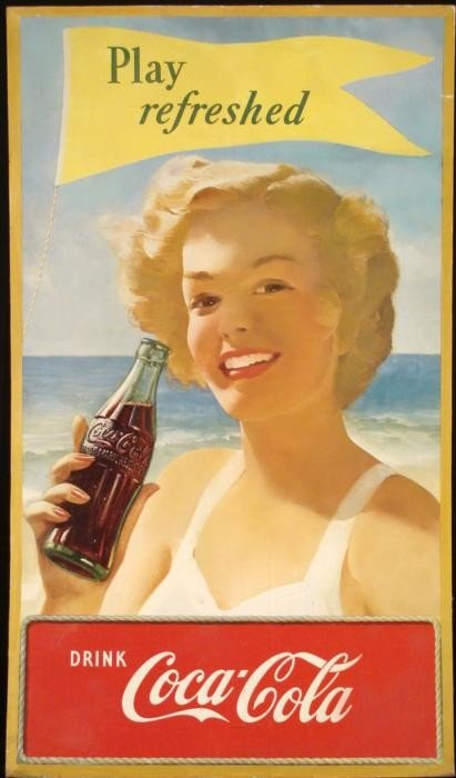 Coke Vintage Original Poster Play Refreshed Coca-Cola