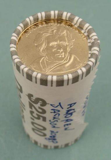 1) Wrapped Roll 2008-P Jackson Pres Dollars GEM UNC