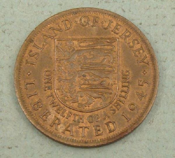 Island of Jersey 1/12 a Shilling 1945 Liberation Coin