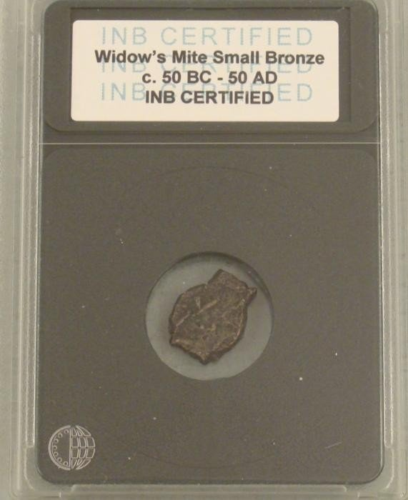 Certified Widows Mite Small Bronze 50 BC - 50 AD Coin