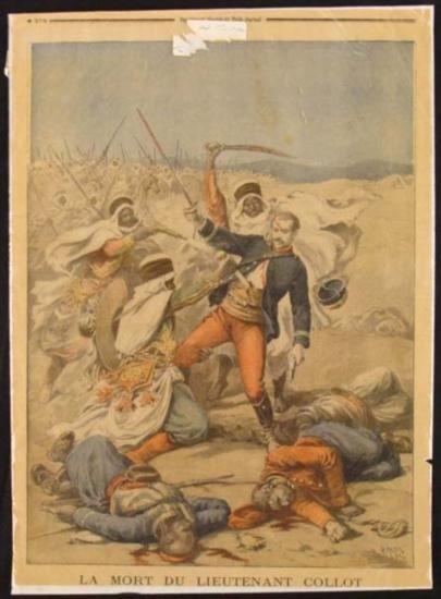2 Antique Prints Petit Journal French Newspaper Battles