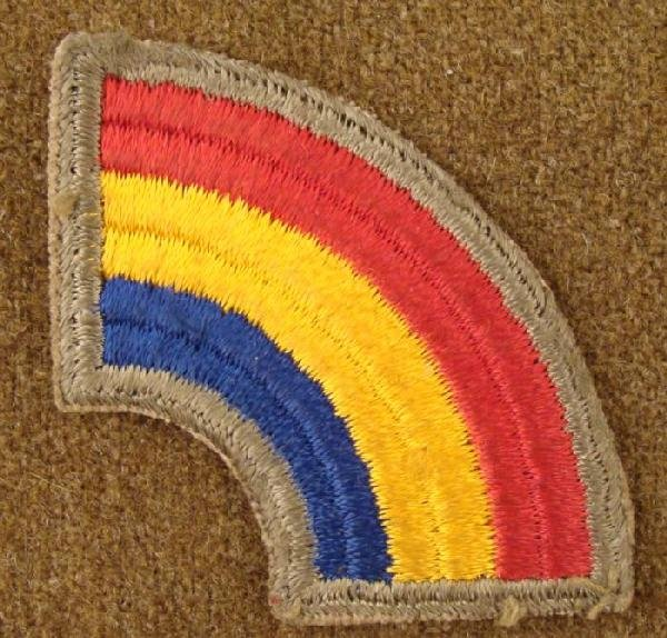 US WWII Rainbow Division Unit Patch 42nd Infantry