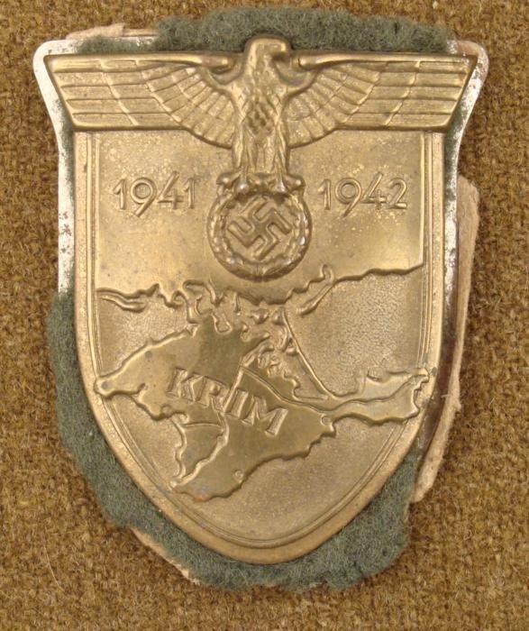 WWII Nazi Krim Shield Crimea Campaign Badge 1941-42
