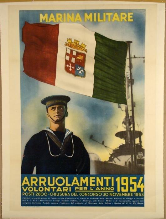 Italian Navy Original Vintage Military Poster 1963
