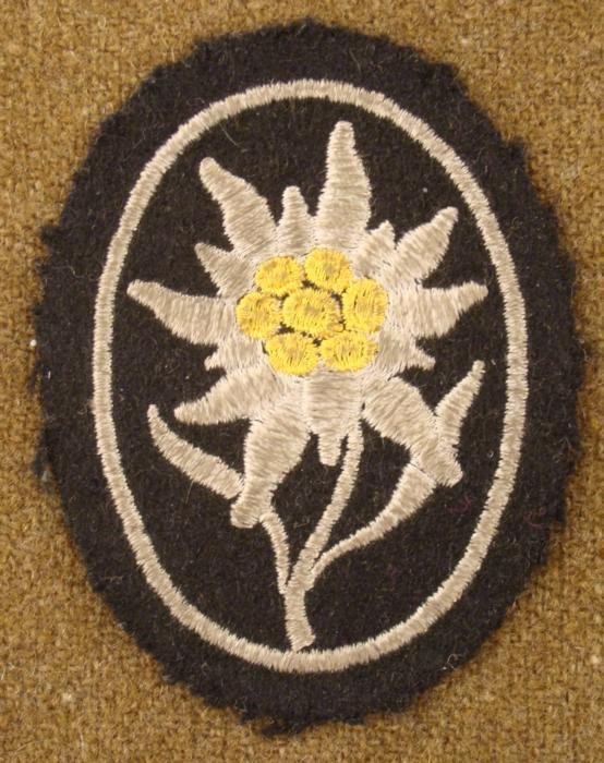WWII Nazi Edelweiss Mountain Troops Sleeve Patch