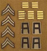 13 ORIGINAL WWII UNIFORM PATCHES 1ST ARMY  OVERSEAS