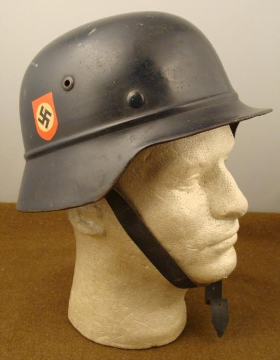 ORIG NAZI DOUBLE DECAL POLICE HELMET LINER CHINSTRAP