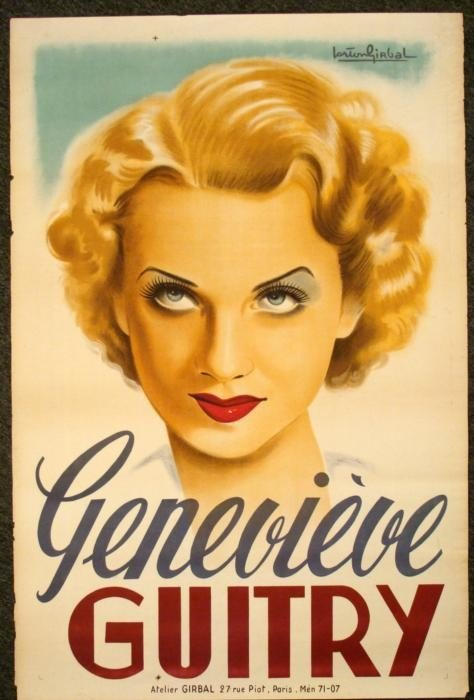 Genevieve Guitry Original Vintage Movie Poster 1930