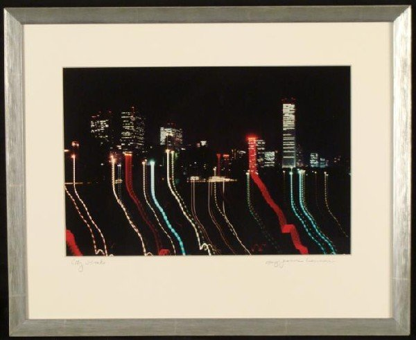 Mary Jeanne Lawrence Chicago Lights Photograph Framed
