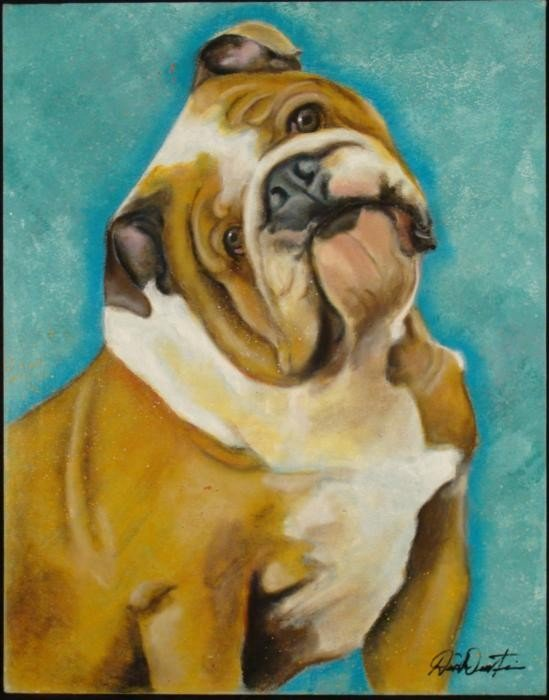 Duerrstein Original Dog Painting English Bulldogs
