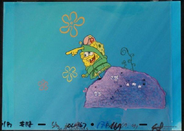 Spongebob OVER THERE Cel Original Background Animation