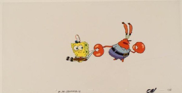 Cel Original Spongebob Youre Coming with Me Animation