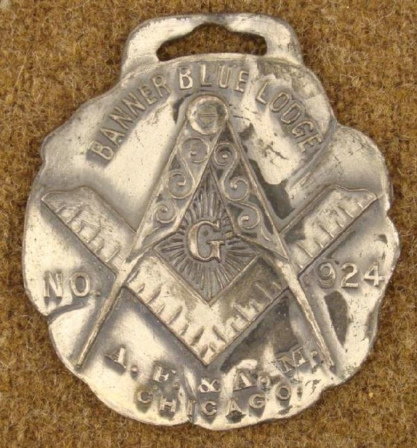 MASONIC WATCH FOB 1910 CHICAGO LODGE