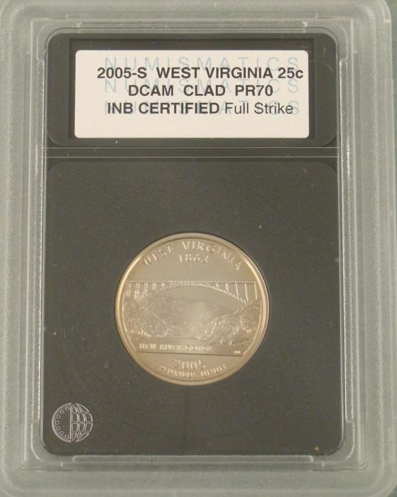 2005-S West Virginia DCAM Proof 70 Washington Quarter