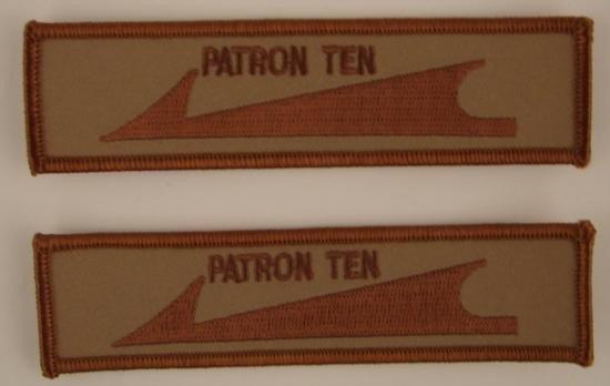 2 Piece Lot 1980s 1990s U.S. Navy PATCHES Patron Ten