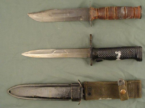 2 US MILITARY KNIVES-FIGHTING & US M6 BY MILPAR BAYONET
