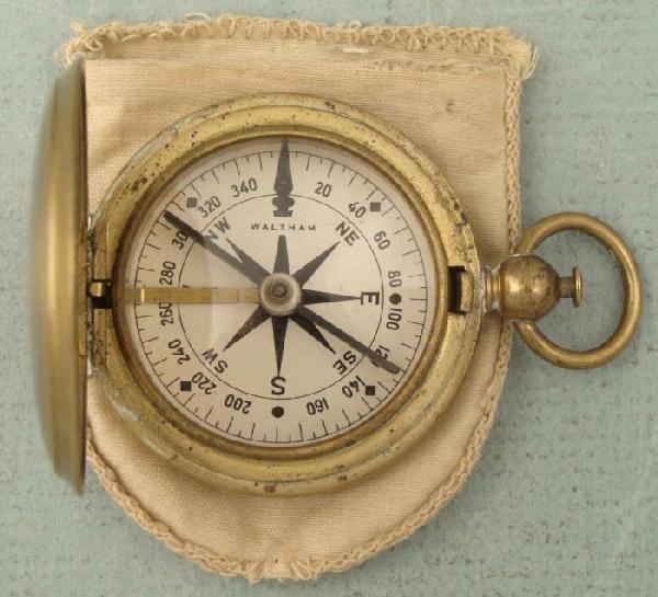 WWI Waltham Brass U.S. Army Military Compass
