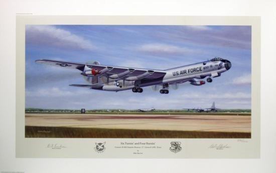 Aviation Art Six Turnin and Four Burnin Machat B-36