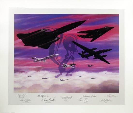 Lockheed Legends Machat Aviation Art SR71Skunkworks