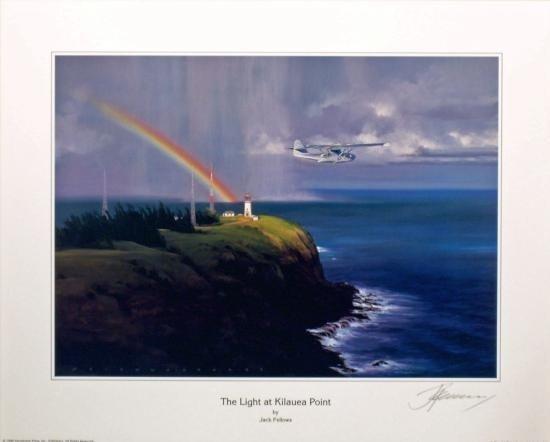 Aviatin Art The Light at Kilauea Point Fellows