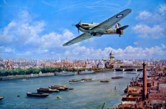 Weekend Warrior John Young RAF Hurricane L/E