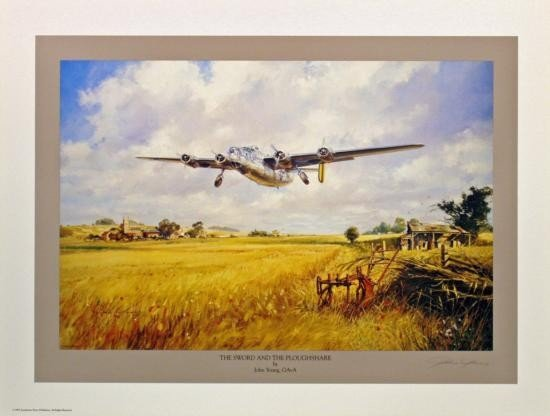 Aviation Art The Sword & The Ploughshare Young B-24