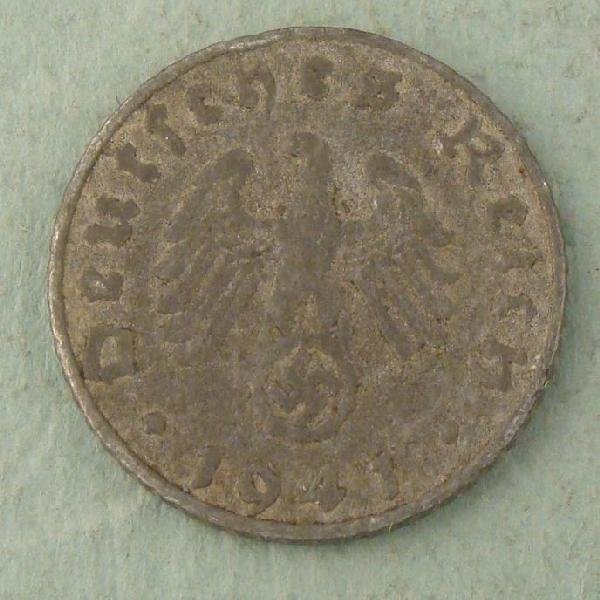 WWII Germany 5 Pfennig Coin 1941 E Low Mintage