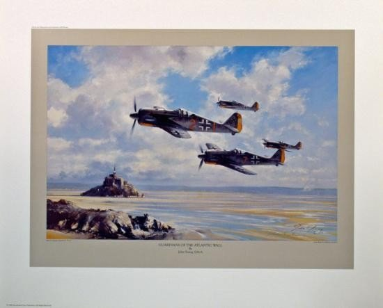 Aviation Art Guardians of the Atlantic Wall Young FW190