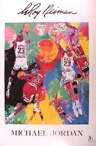 Exciting LE Michael Jordan LeRoy Neiman Poster 1990