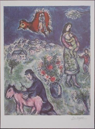 After Marc Chagall SUR LA ROUTE DU VILLAGE Art Print