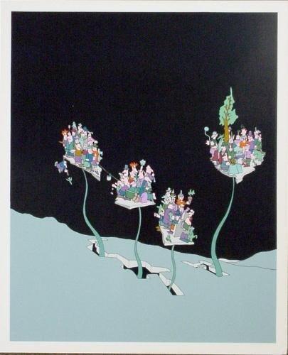 Abstract Wacky Cartoon Style JAKUBOWICZ Art Print