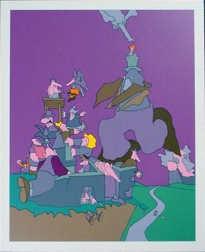 Wild Wacky Purple Cartoon Style JAKUBOWICZ Art Print