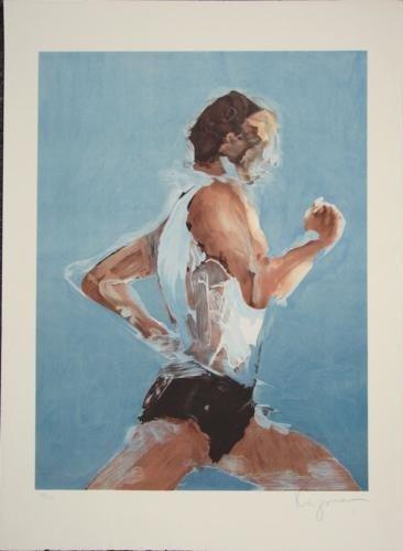 Steven Kuzma RUNNER Running Signed LE Sports Art Print
