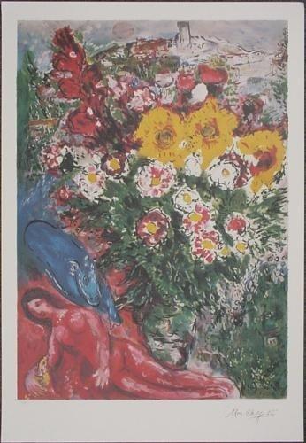 Impressive LE After Chagall LES SOUCIS Fine Art Print