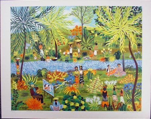 Colorful HOMAGE TO GAUGUIN Signed LE Art Print