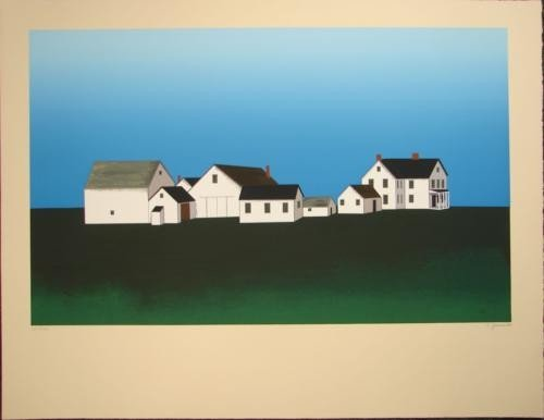 ORIENT POINT Ted Jeremenko LE Folk Primitive Art Print