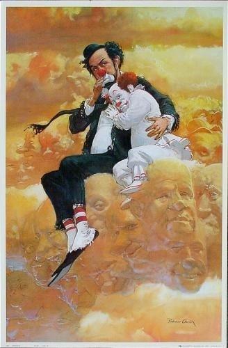 Colorful Robert Owen FRIENDSHIP Clown Art Print