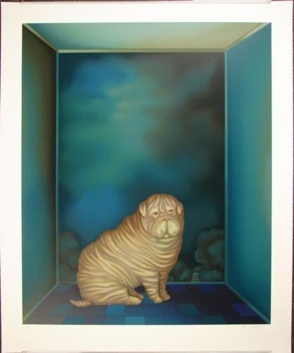 Fabulous SHAR-PEI Dog Igor Galanin Signed LE Art Print