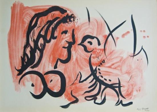 Chagall Marc - Femme a Loiseau