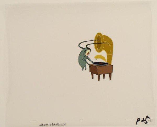 Old Record Original Player Production SpongeBob Cel Art