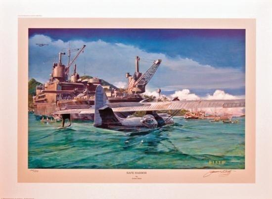 Aviation Art James Dietz Safe Harbor Catalina