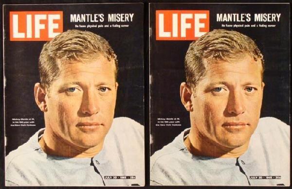 2 LIFE Magazines July 30, 1965 Mickey Mantle Baseball